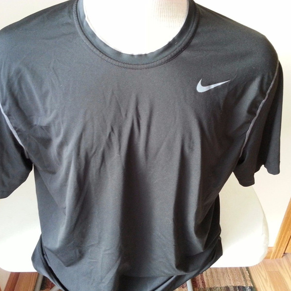 898cae8e Nike Shirts | Pro Black Shirt Gray Trim Mens Xl | Poshmark